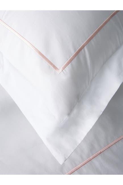 Image of Melange Home Single Marrow King Stripe 300 Thread Count Duvet 3-Piece Set - White
