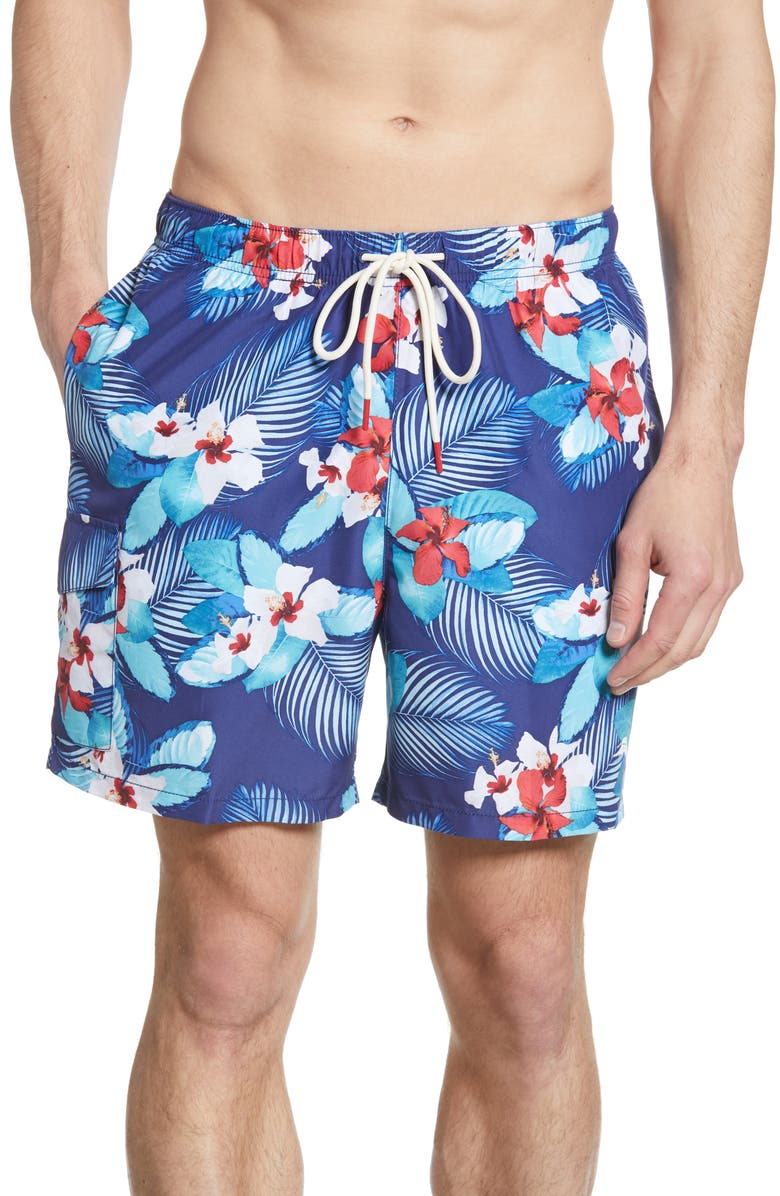 TOMMY BAHAMA Naples Monterosso Beach Swim Trunks, Main, color, 400