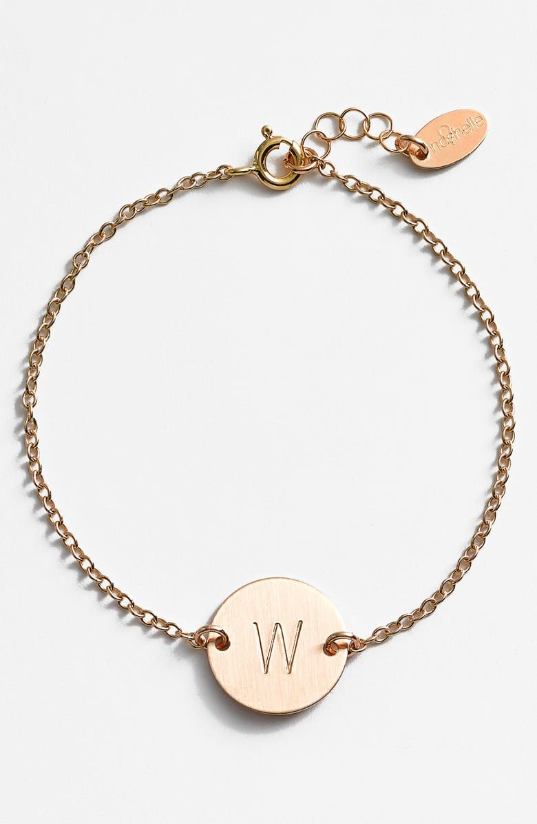 NASHELLE 14k-Gold Fill Initial Disc Bracelet, Main, color, 14K GOLD FILL W