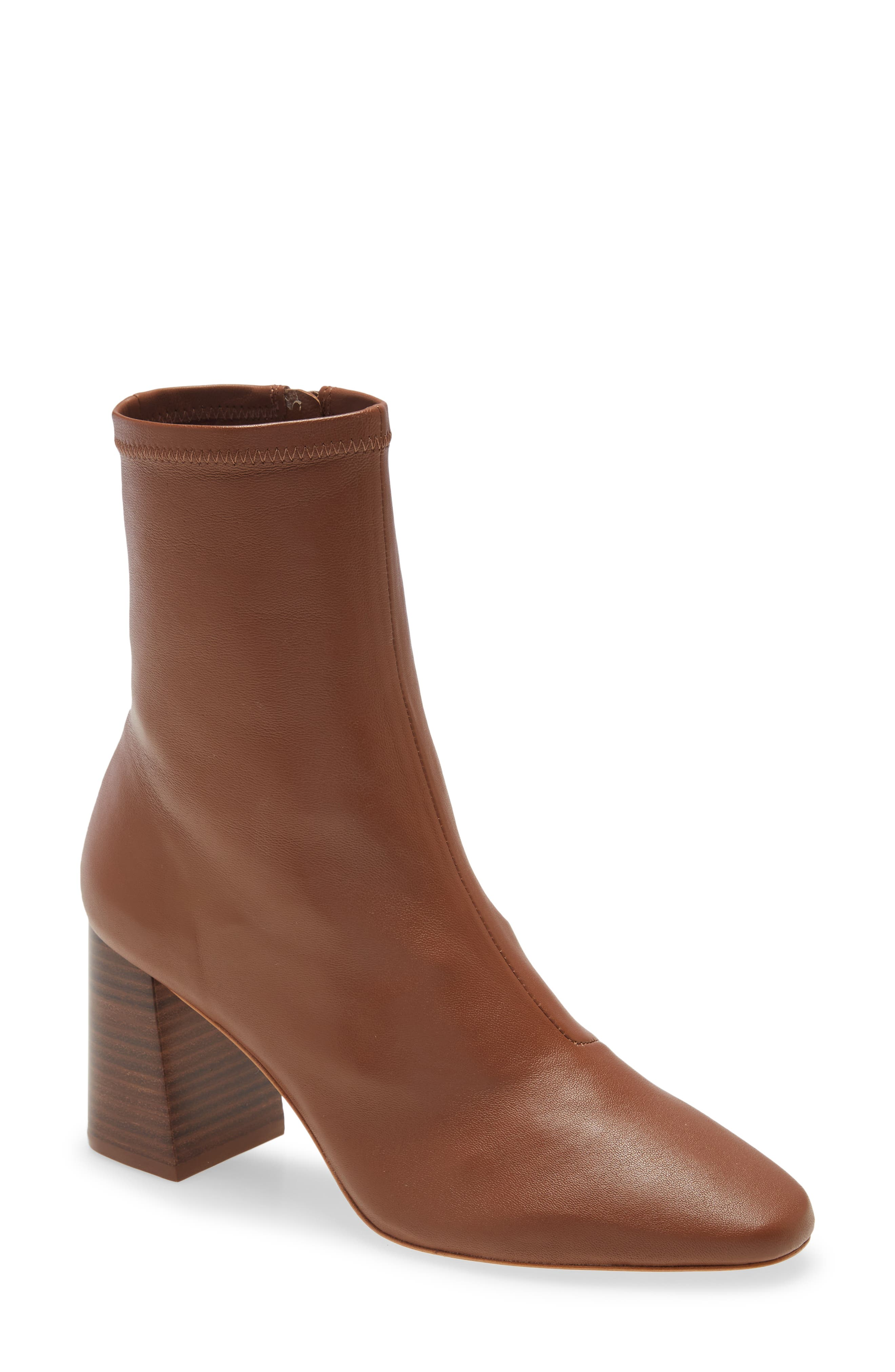Elise Stretch Leather Bootie