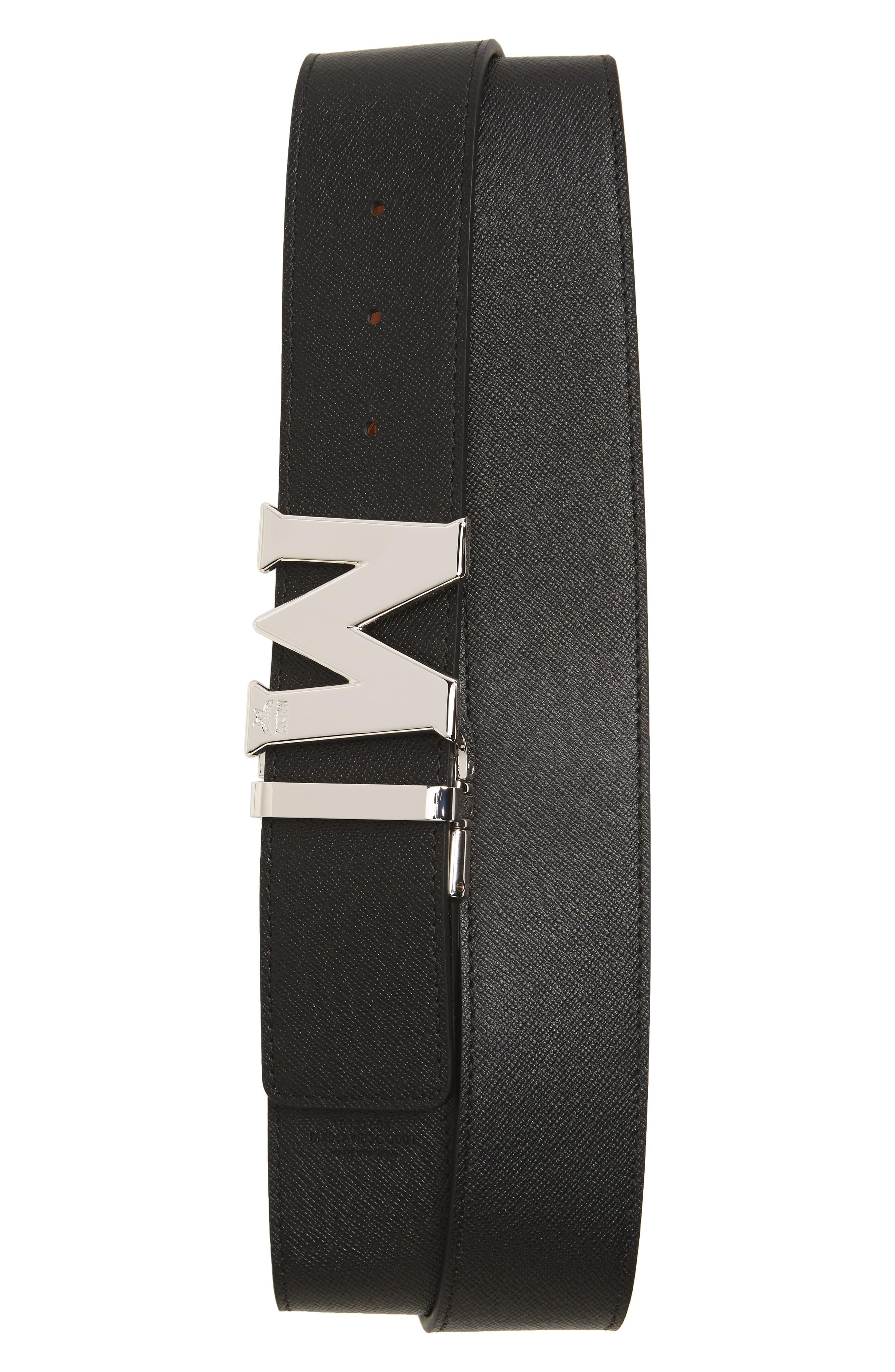 ,                             Reversible Signature Leather Belt,                             Alternate thumbnail 4, color,                             210