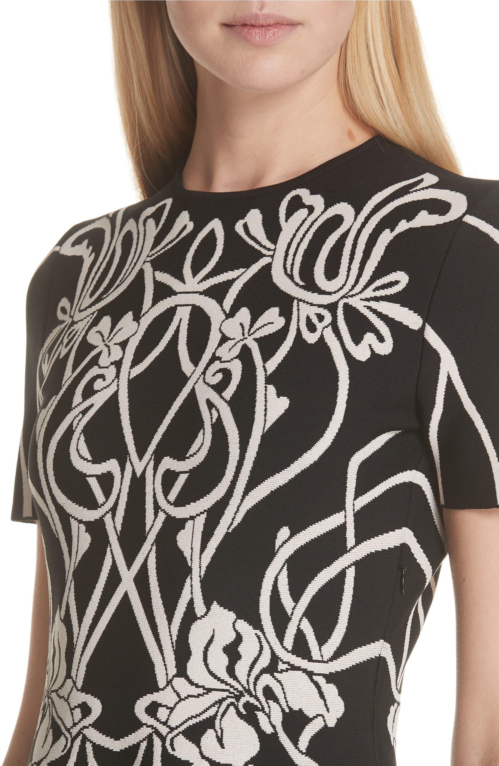 aabe0161da Alexander McQueen Art Nouveau Jacquard Knit Dress   Nordstrom