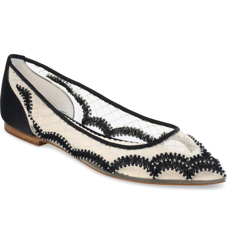 BELLA BELLE Eva Flat, Main, color, BLACK SILK