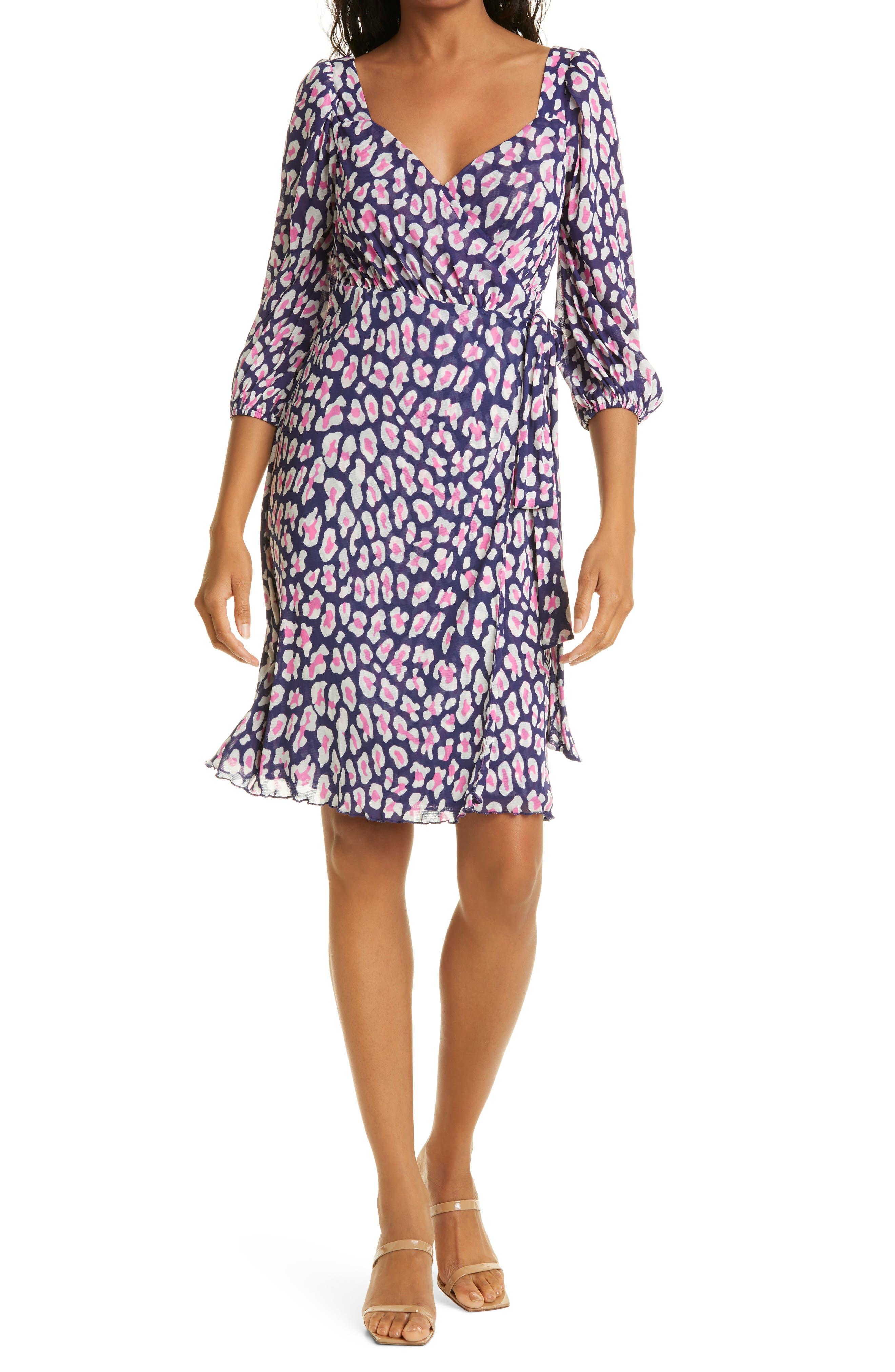 Abby Print Wrap Dress