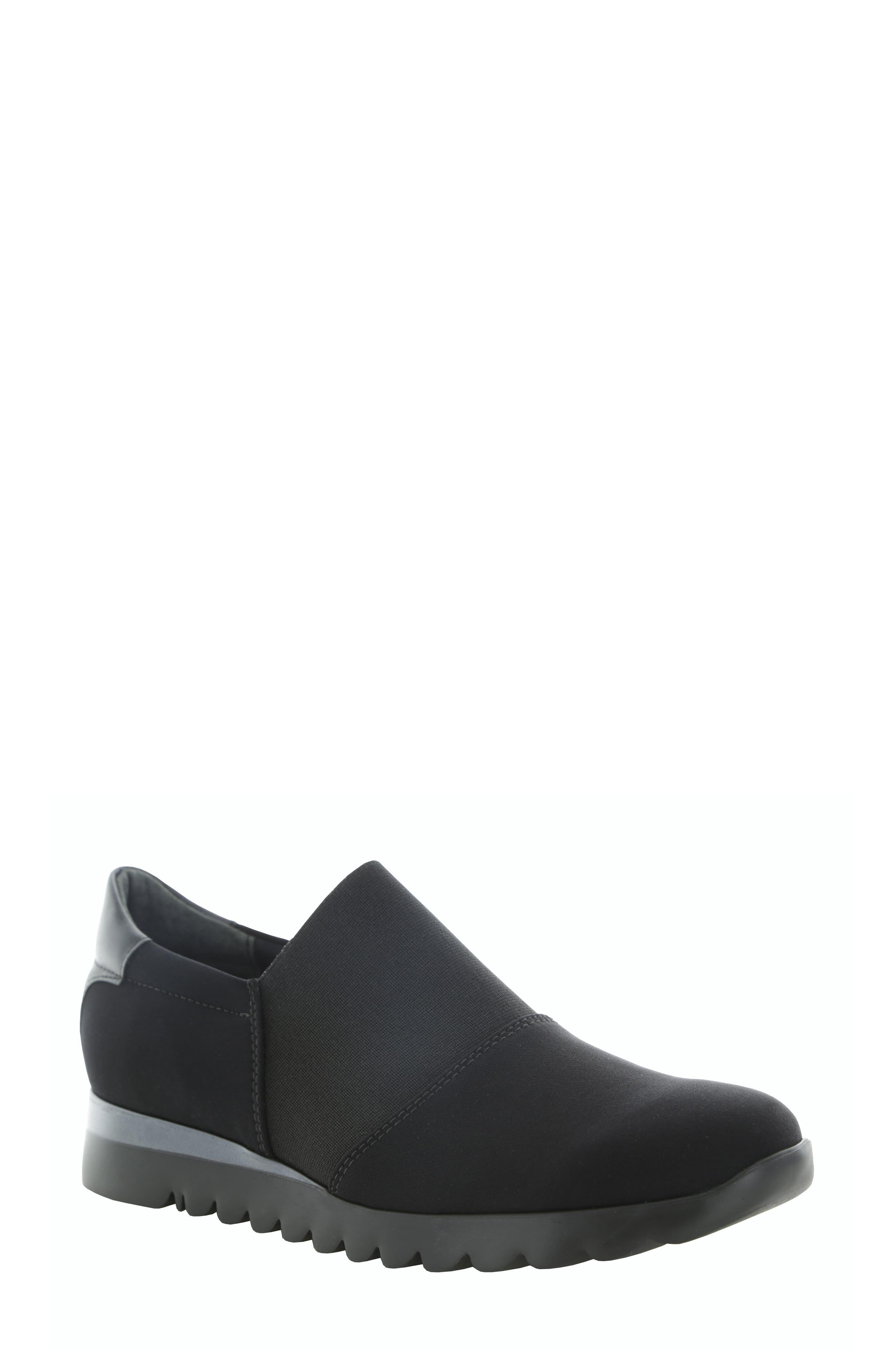 Munro Kj Slip-On Sneaker- Black