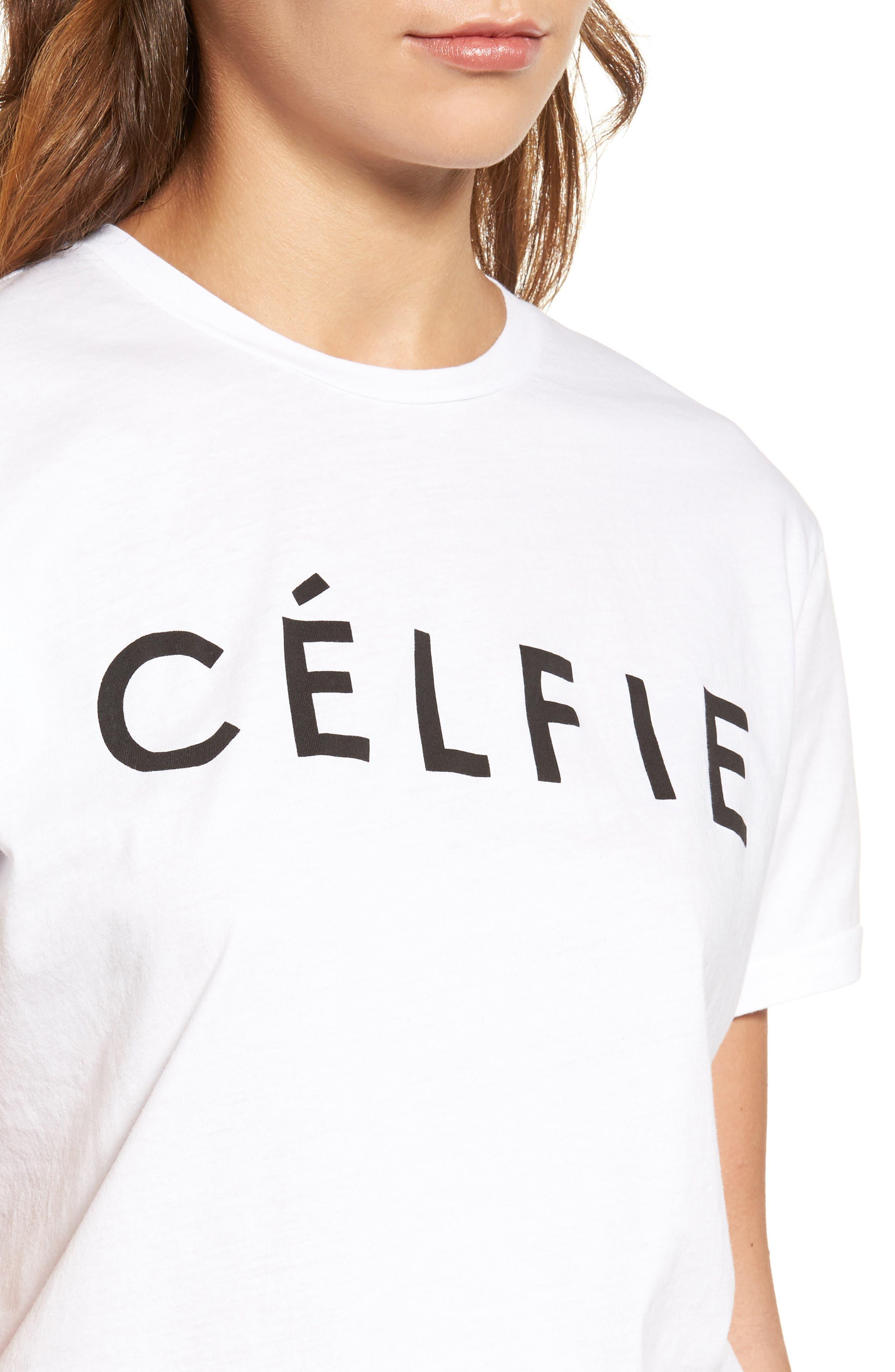 ,                             'Célfie' Graphic Tee,                             Alternate thumbnail 15, color,                             100