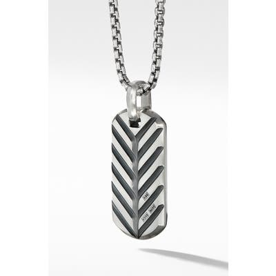 David Yurman Streamline Tag With 18K Gold