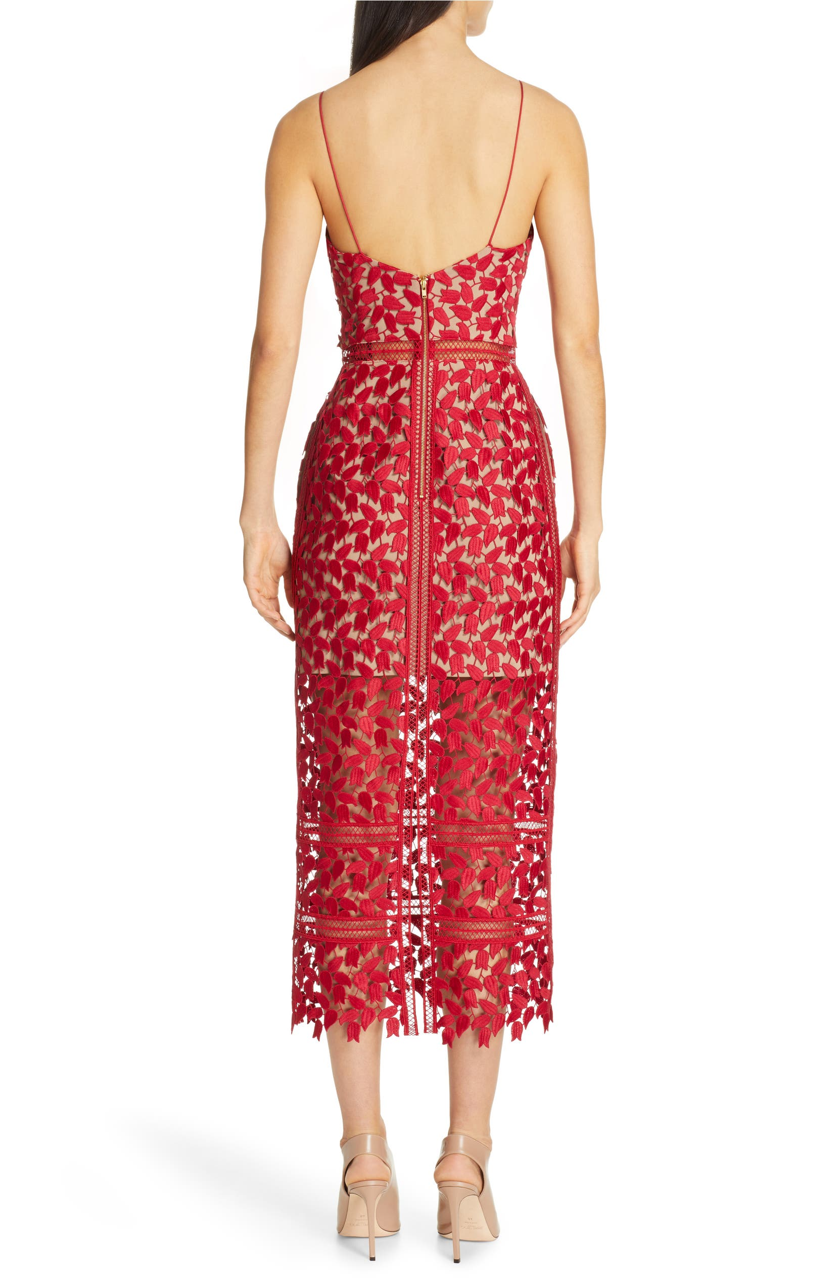 a5a3676151199 Self-Portrait Arabella Lace Midi Dress | Nordstrom