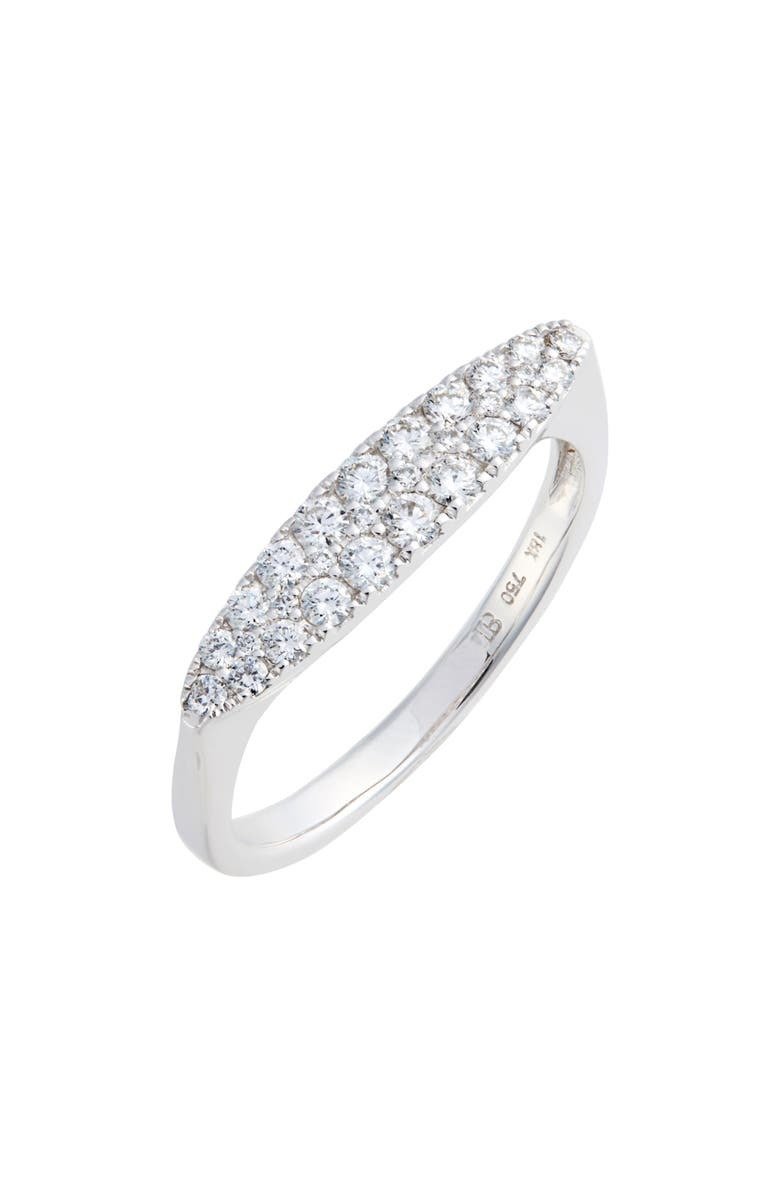 BONY LEVY Oval Diamond Stacking Ring, Main, color, 040