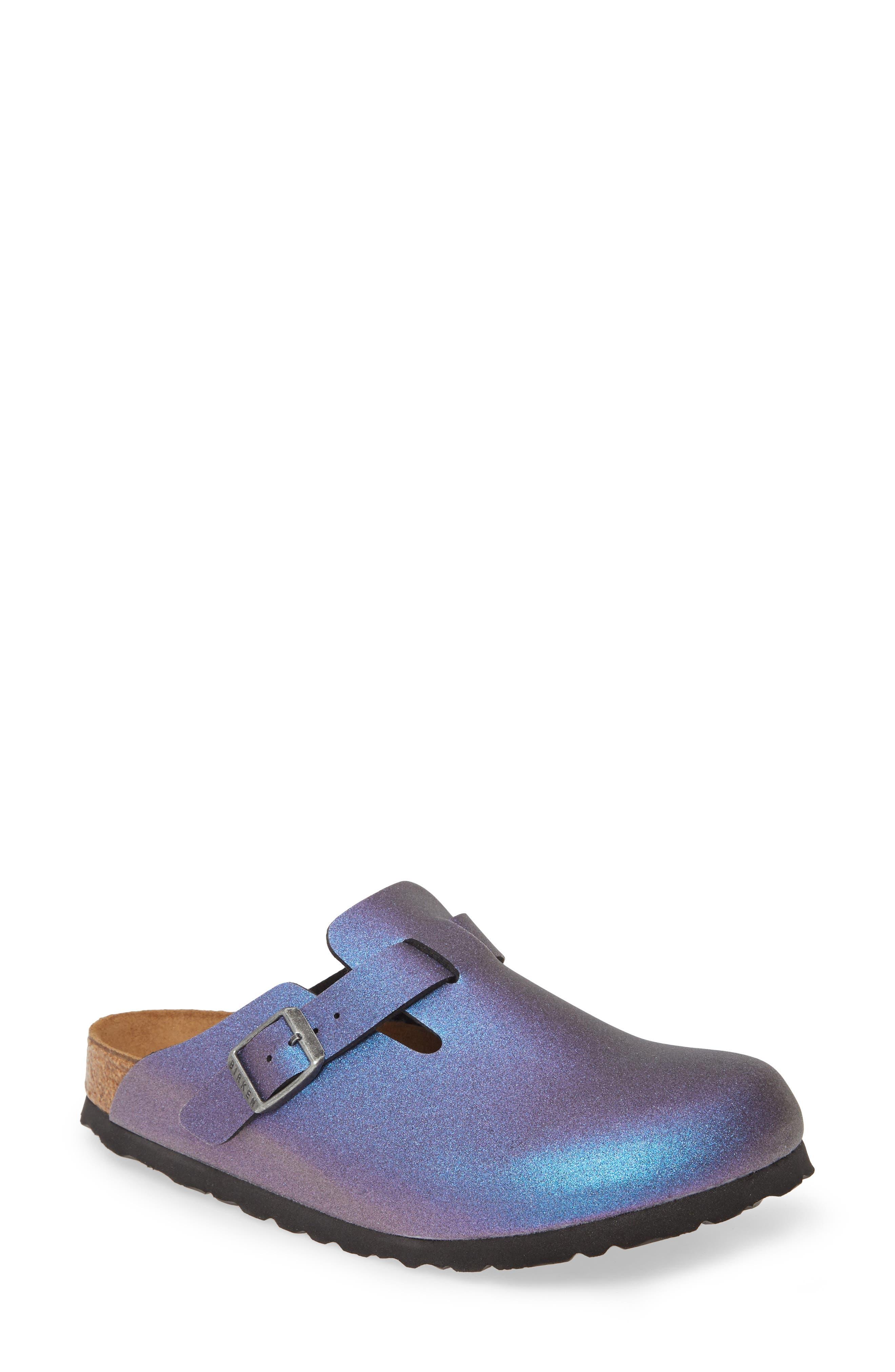Birkenstock Boston Metallic Clog,8.5 B - Blue