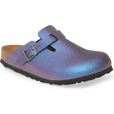 Birkenstock Boston Metallic Clog,8.5 B - Blue