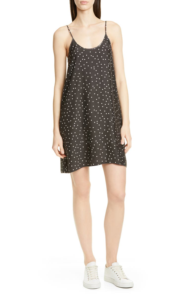 ATM ANTHONY THOMAS MELILLO Polka Dot Silk Slipdress, Main, color, 095