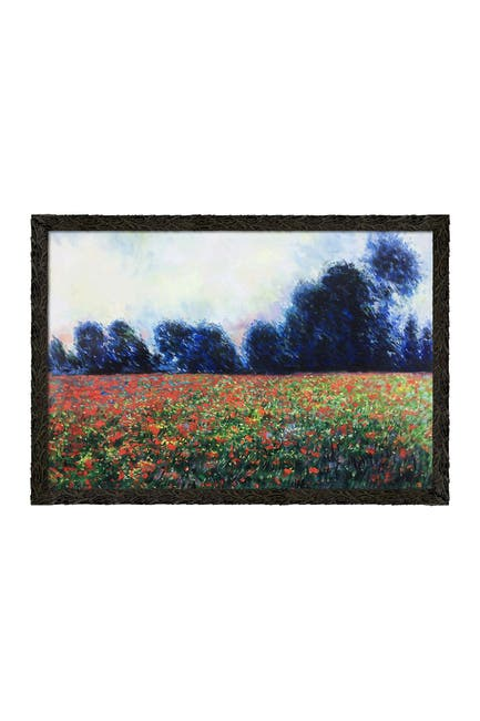 """Image of Overstock Art Poppies at Giverny with Feathered Ebony Frame, 27.24"""" x 39.24"""""""