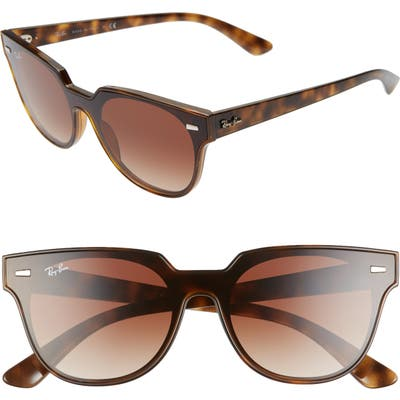 Ray-Ban Blaze Meteor 145Mm Gradient Shield Sunglasses - Havana/ Brown Solid