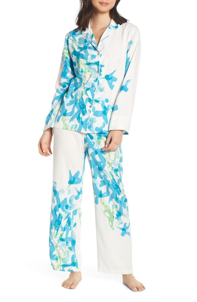 NATORI Hyacinth Satin Pajamas, Main, color, 400