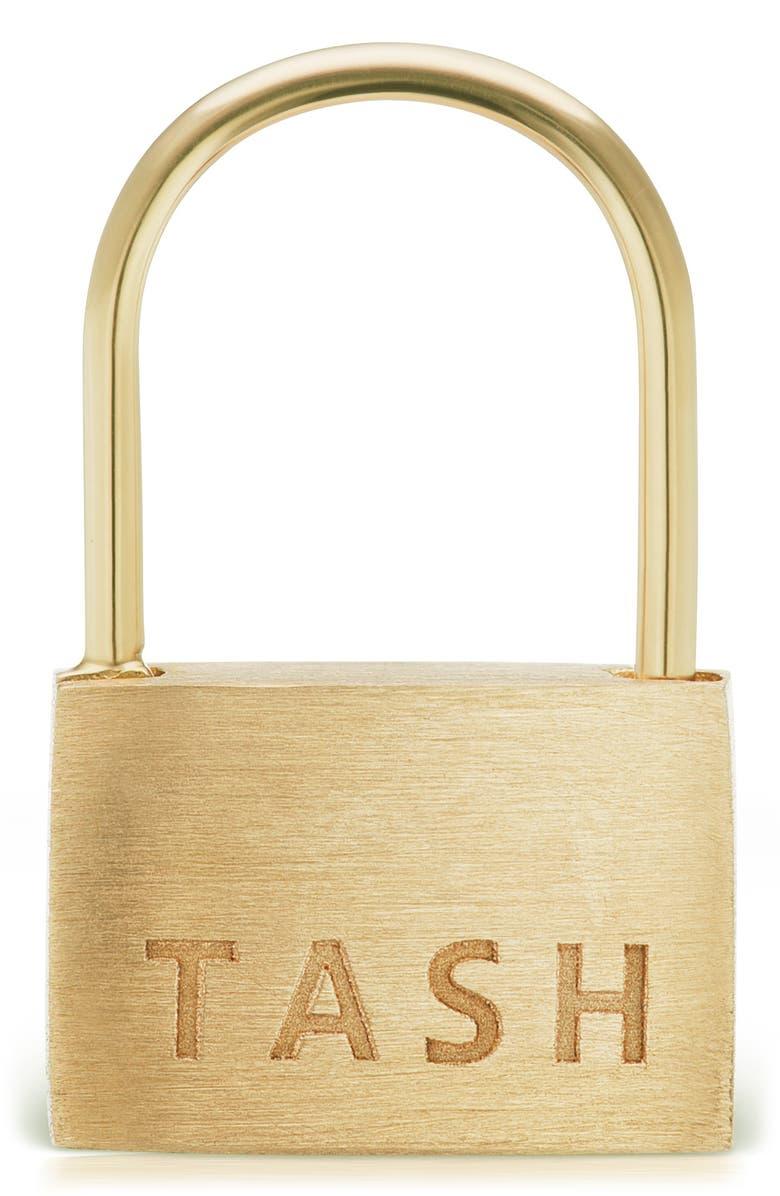 MARIA TASH Padlock Clicker, Main, color, YELLOW GOLD