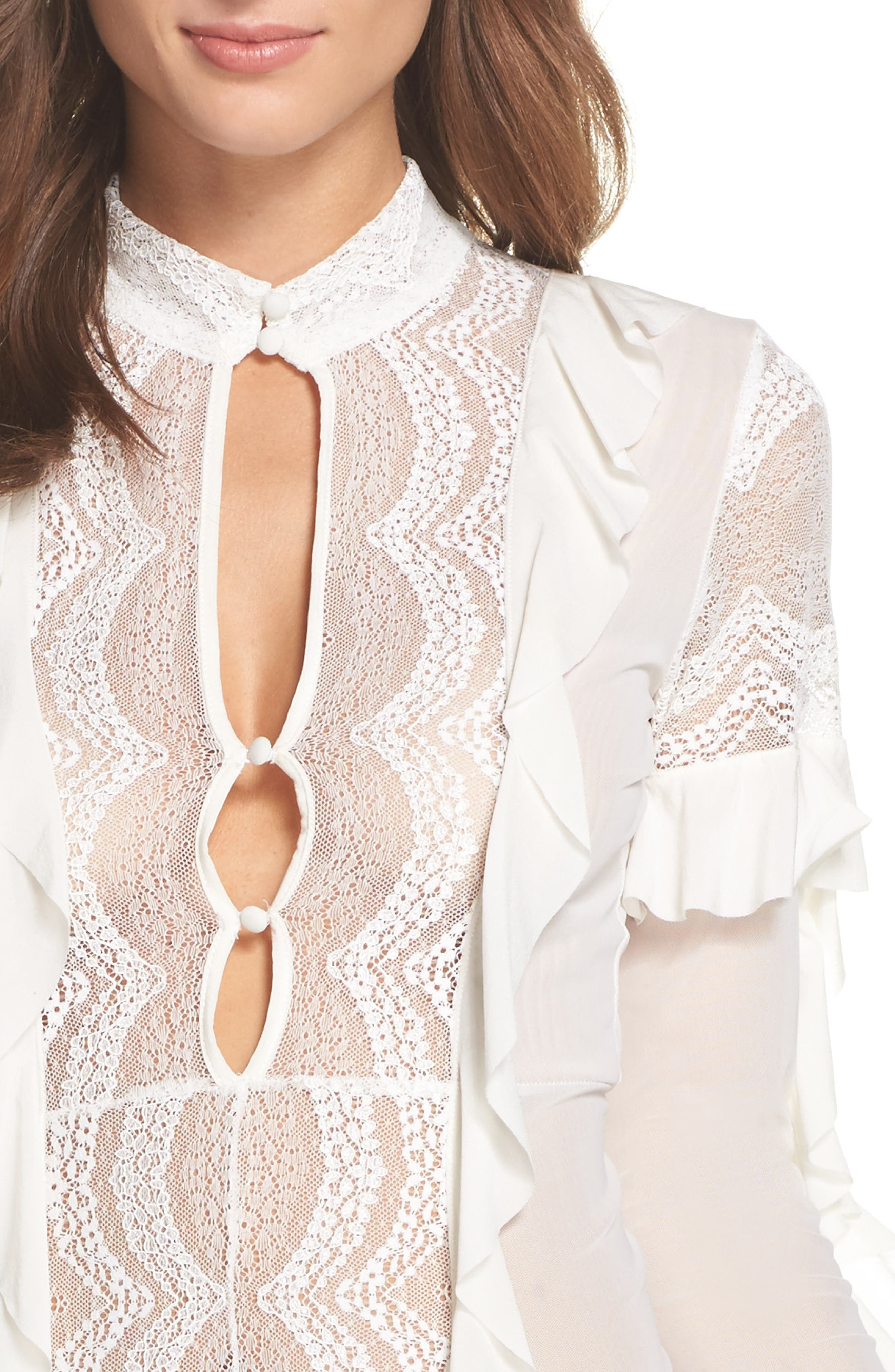,                             Eva Lace Ruffle Bodysuit,                             Alternate thumbnail 10, color,                             900