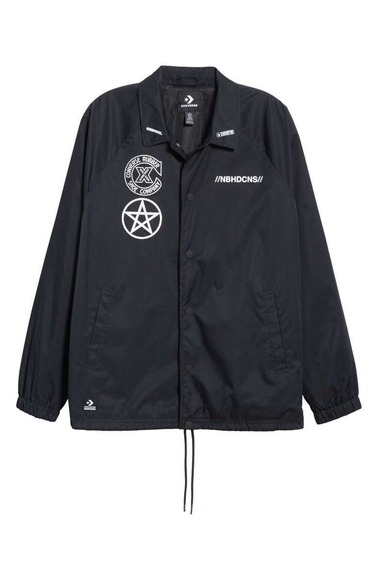 CONVERSE x NEIGHBORHOOD Nylon Jacket, Main, color, BLACK