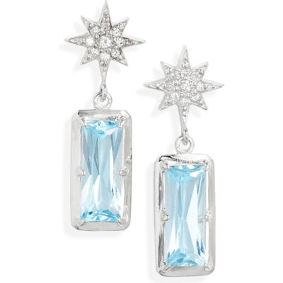 Anzie Blue Topaz Drop Earrings