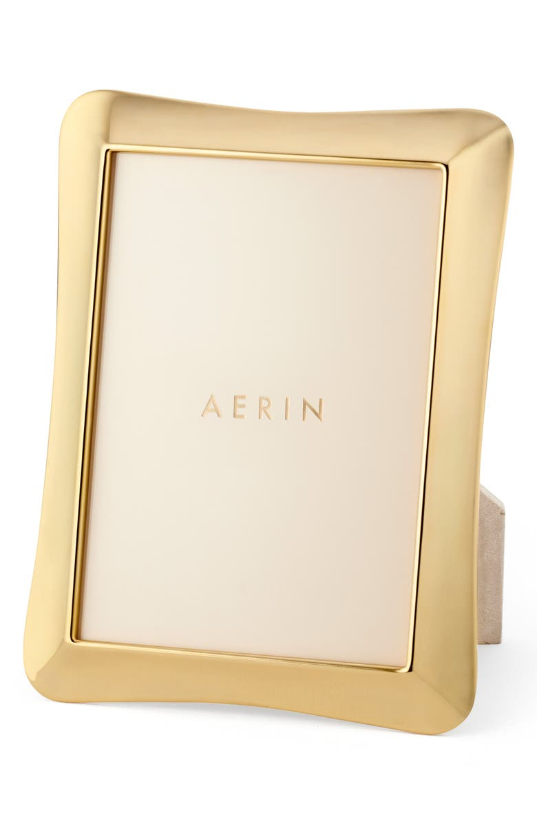 AERIN Cecile Picture Frame, Main, color, BRASS