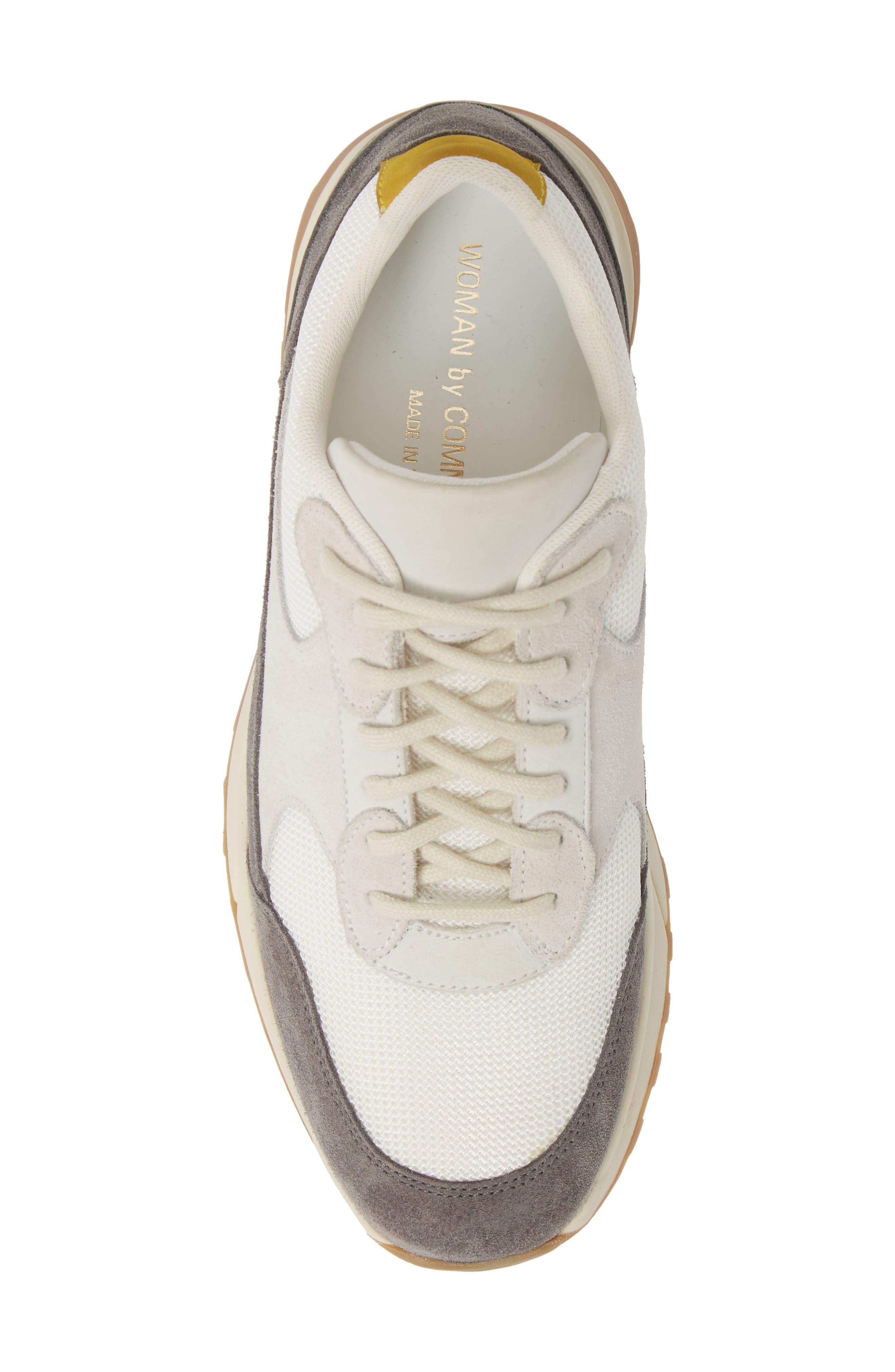 ,                             New Track Sneaker,                             Alternate thumbnail 5, color,                             WHITE/ GREY