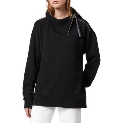 Allsaints Bella Zip Sweatshirt, Black