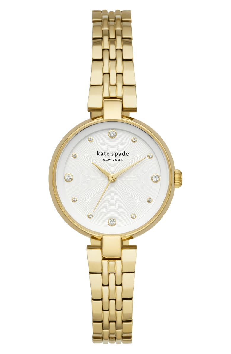 KATE SPADE NEW YORK annadale bracelet watch, 30mm, Main, color, GOLD/ WHITE/ GOLD