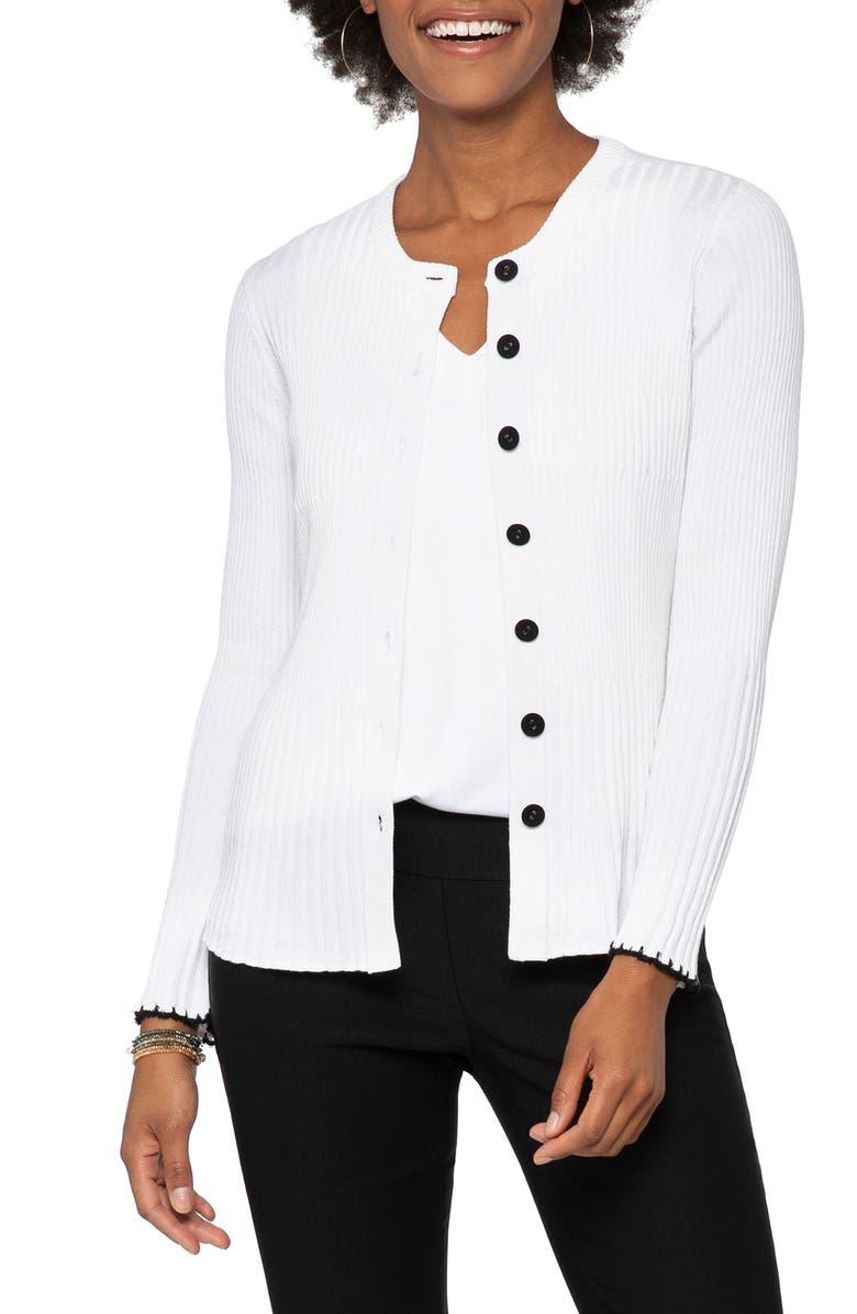 NIC+ZOE Framework Cardigan, Main, color, PAPER WHITE