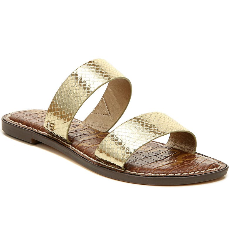 SAM EDELMAN Gala Two Strap Slide Sandal, Main, color, JUTE LEATHER