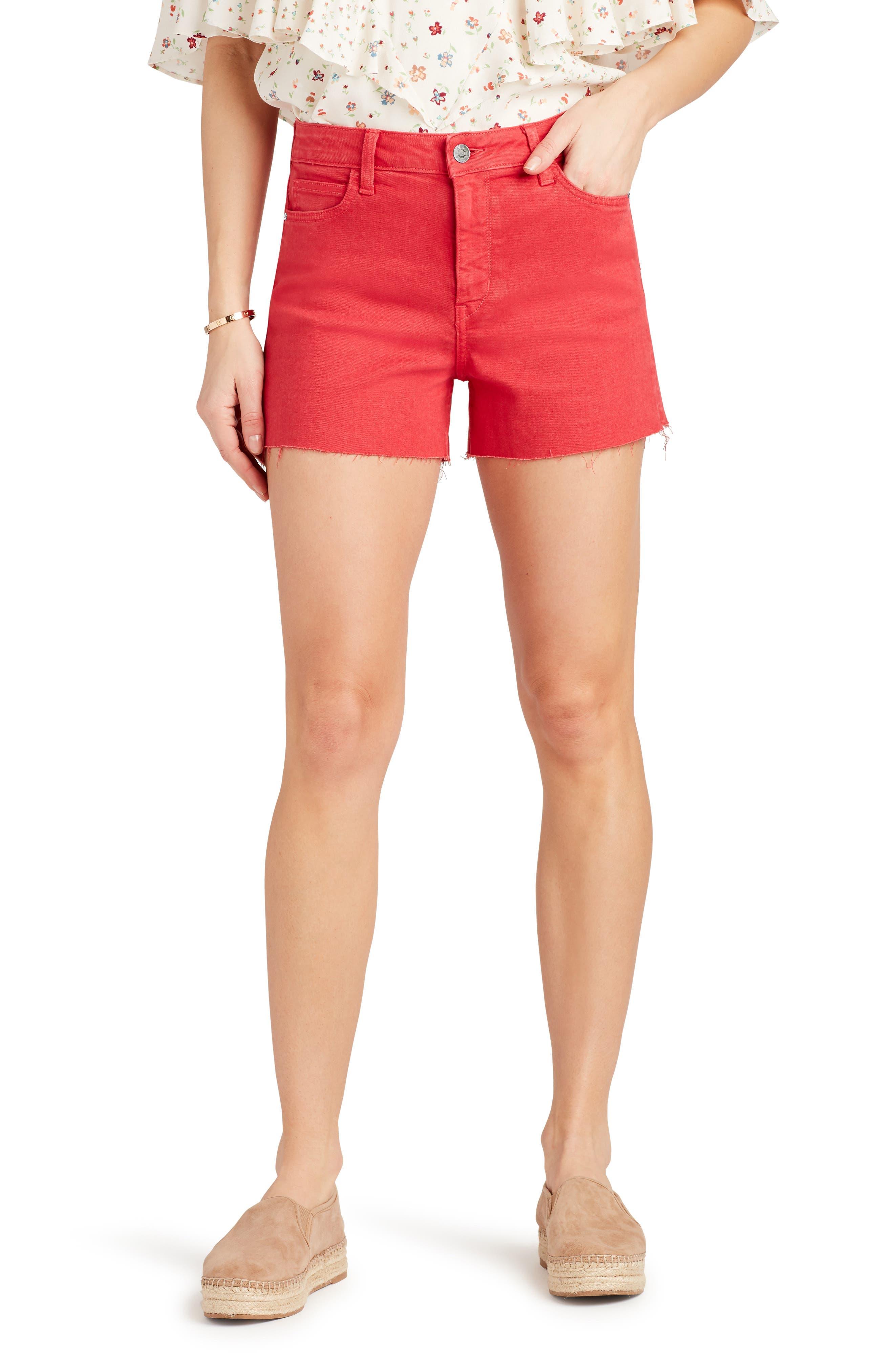 Image of Sam Edelman The Stiletto Raw Hem Cutoff Denim Shorts