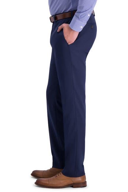 Image of Louis Raphael Solid Flat Front Slim Fit Dress Pants