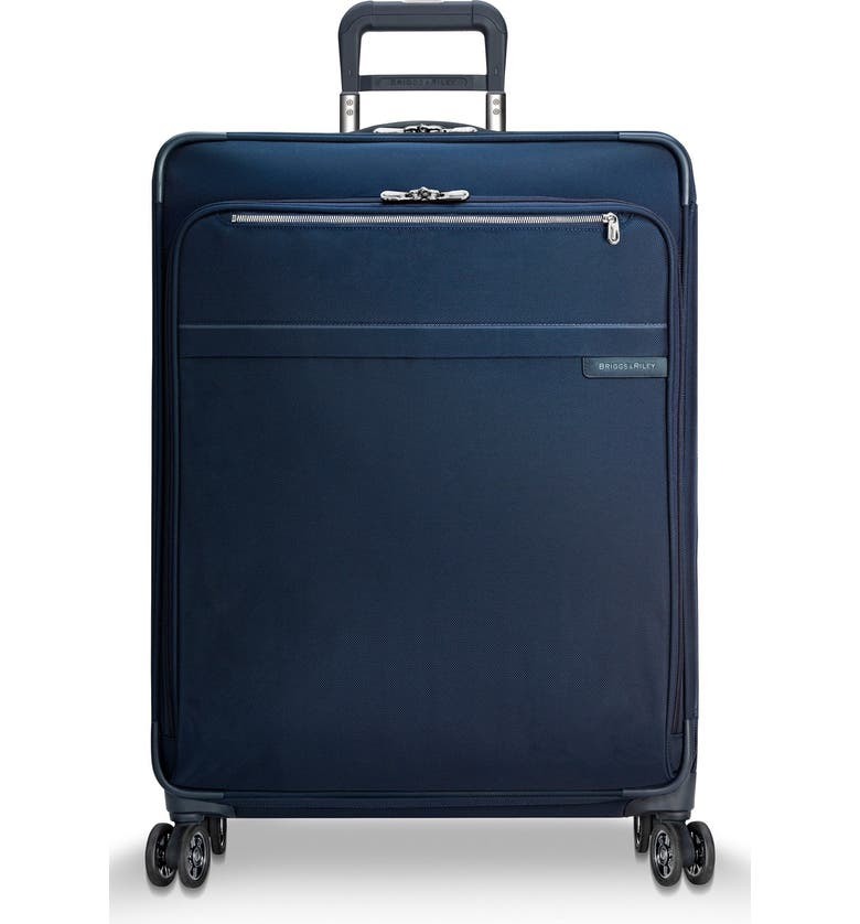 BRIGGS & RILEY Baseline 28 Inch Expandable Rolling Suitcase, Main, color, NAVY