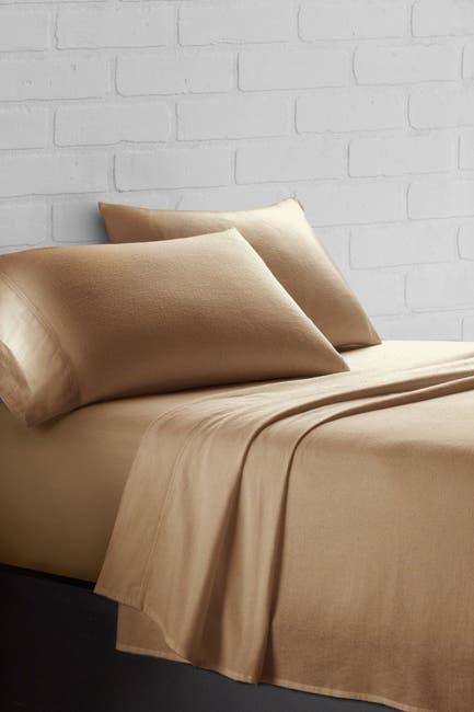 Image of Ella Jayne Flannel Full Sheet Set - Camel