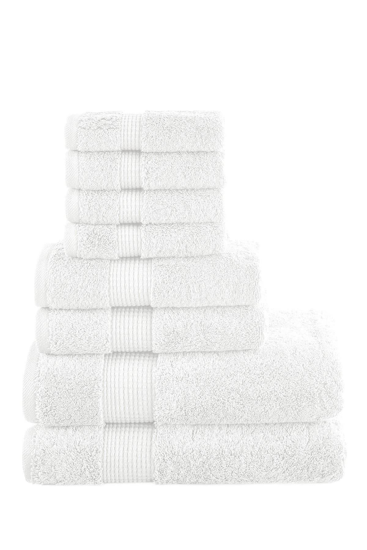 Image of Modern Threads Manor Ridge Turkish Cotton 700 GSM 8-Piece Towel Set - White
