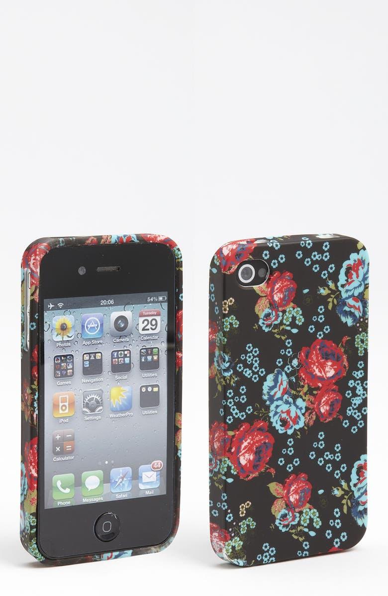 DESIGN LAB Floral Print iPhone 4 & 4S Case, Main, color, 001