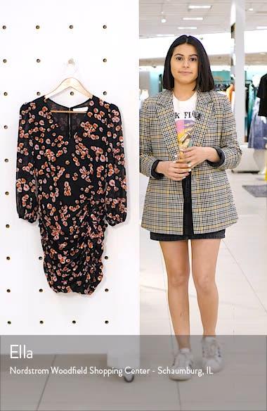 Floral Long Sleeve Minidress, sales video thumbnail