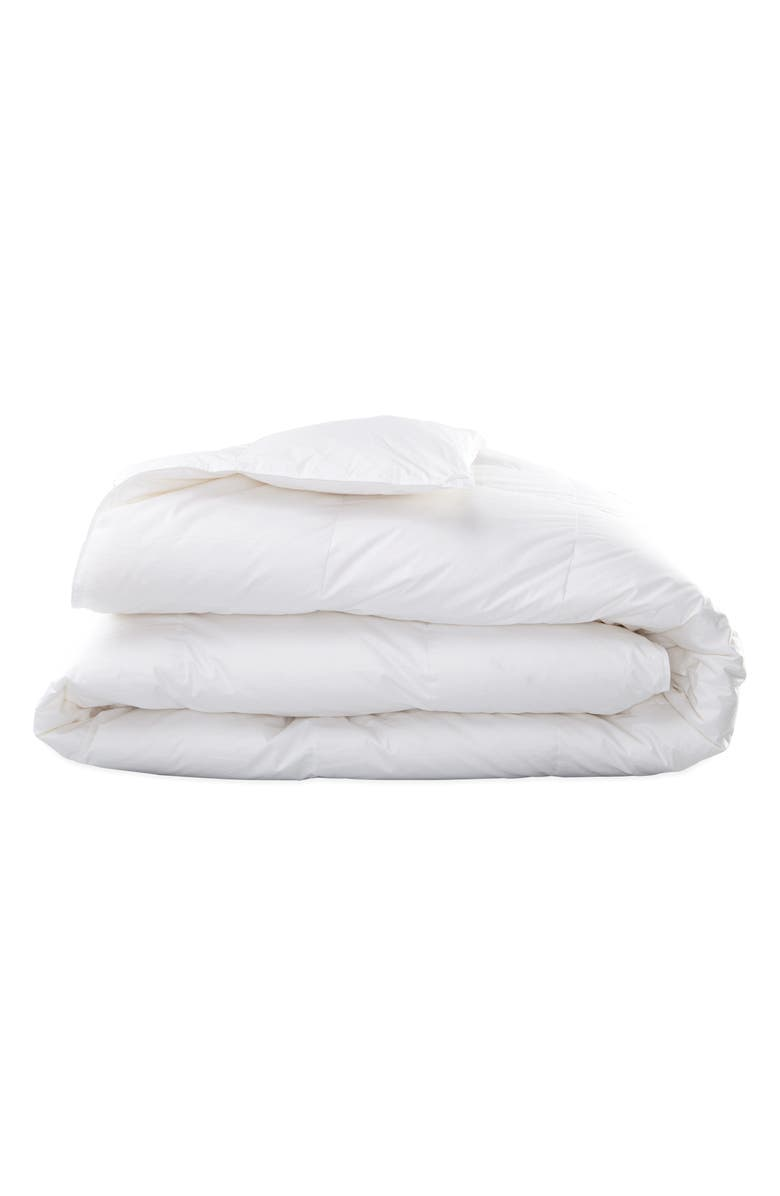 MATOUK Valletto 650 Fill Power All Season Down 400 Thread Count Comforter, Main, color, WHITE
