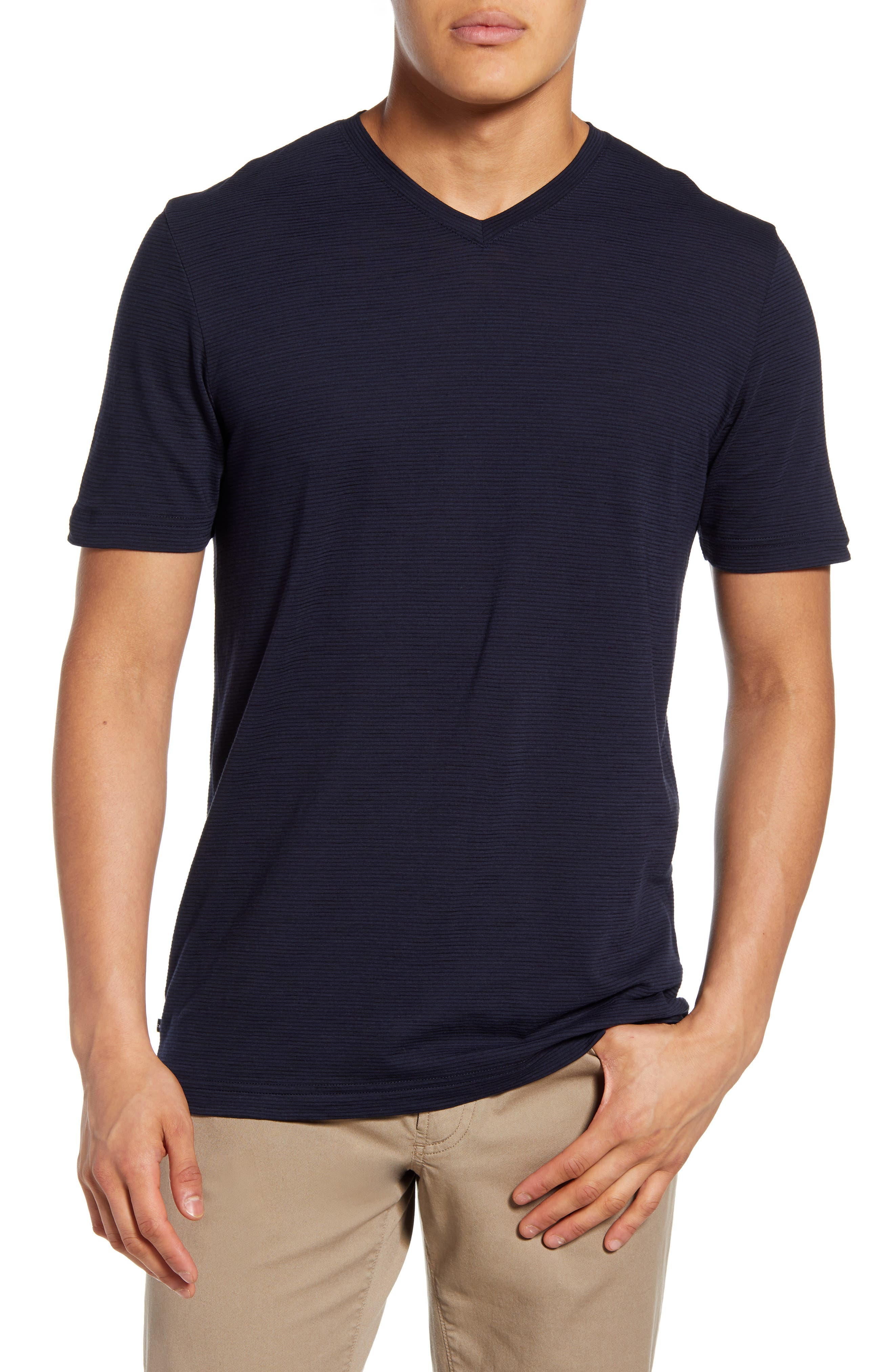 A V-neck smartens the profile of a wardrobe-staple T-shirt crafted from an undeniably soft and breathable cotton blend with a look that can take you anywhere. Style Name: Travismathew Trumbull V-Neck T-Shirt. Style Number: 5937714. Available in stores.