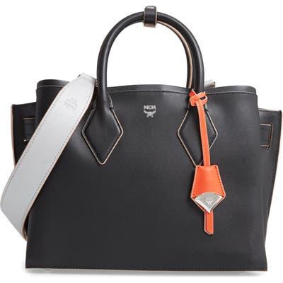 Mcm Medium Neo Milla Leather Tote - Black