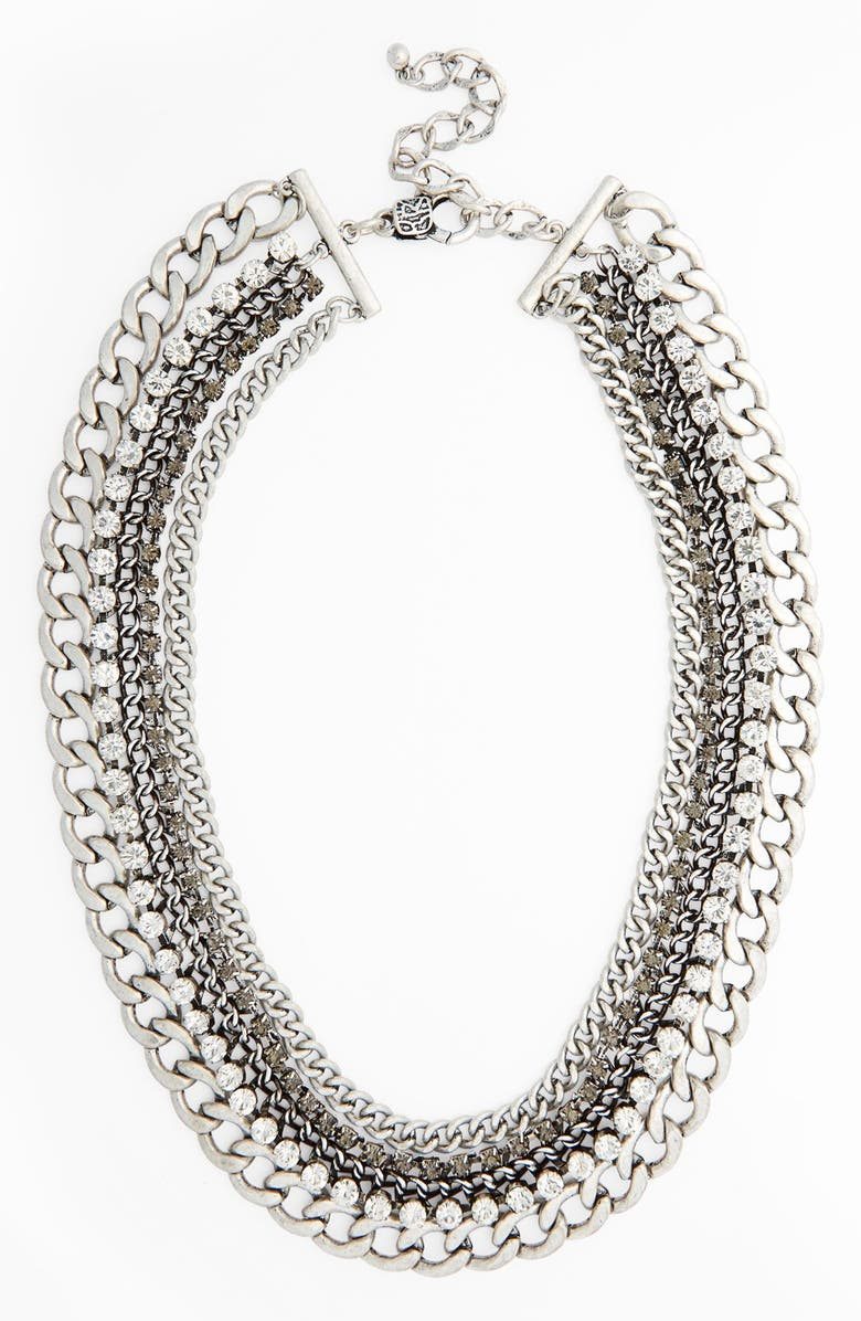 NATASHA COUTURE Crystal Multi Chain Necklace, Main, color, 041