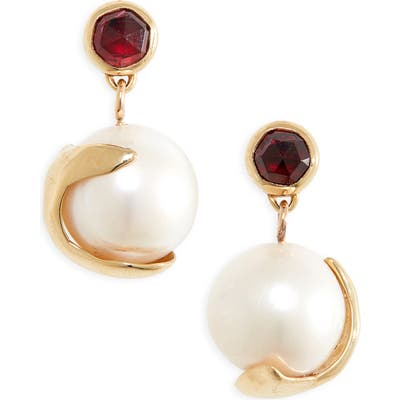 Faris Pomme Pearl Drop Earrings
