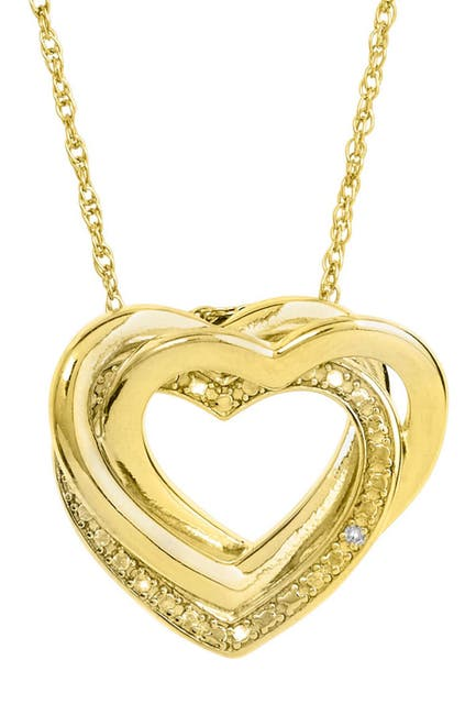 Image of Savvy Cie 18K Gold Vermeil Diamond Interlocking Necklace - 0.01 ctw