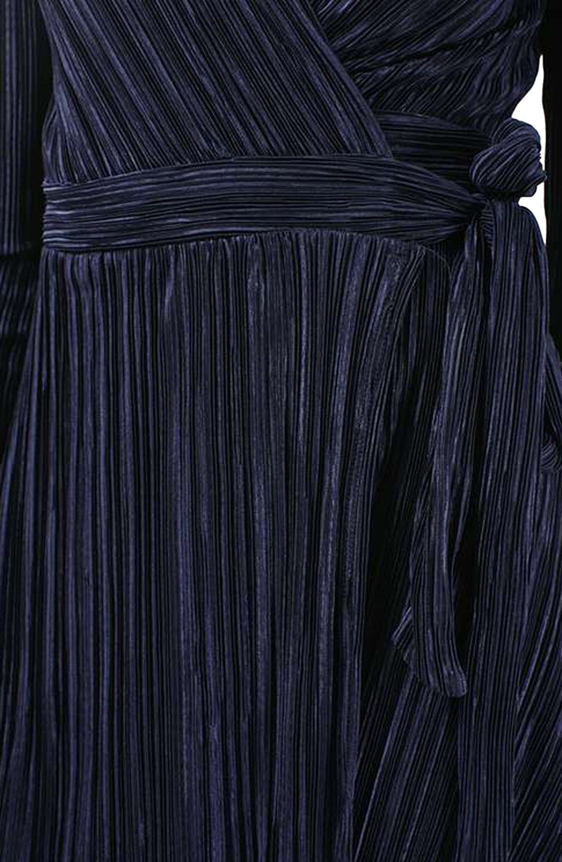 ,                             Plissé Wrap Minidress,                             Alternate thumbnail 13, color,                             410