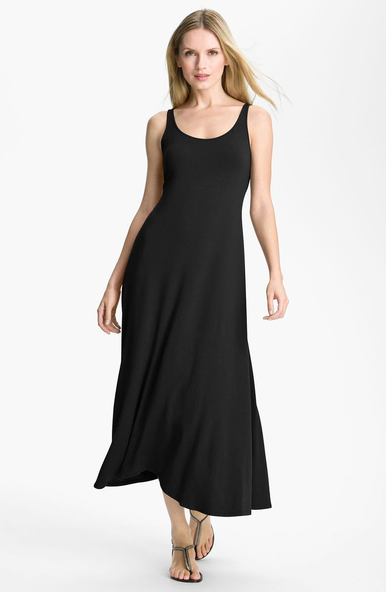 EILEEN FISHER Jersey Maxi Dress, Main, color, 001