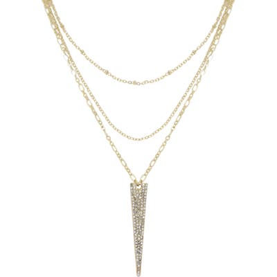 Ettika Layered Spike Pendant Necklace