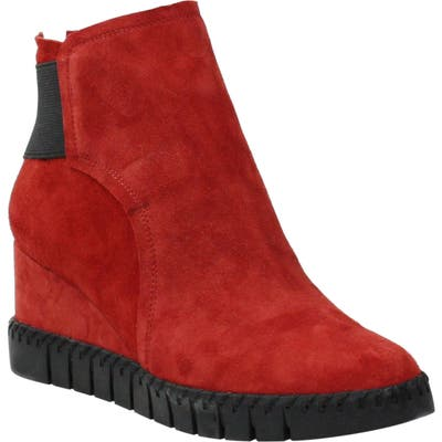 J. Renee Nagetta Wedge Sneaker B - Red