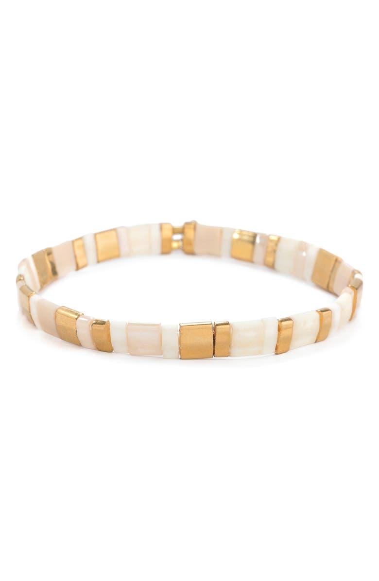 SHASHI Tilu Bracelet, Main, color, BEIGE