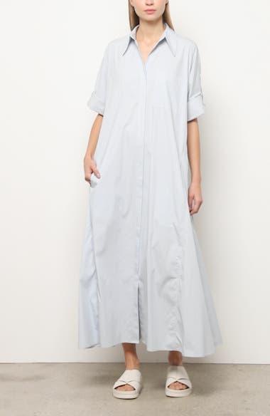Long Sleeve Maxi Shirtdress, video thumbnail