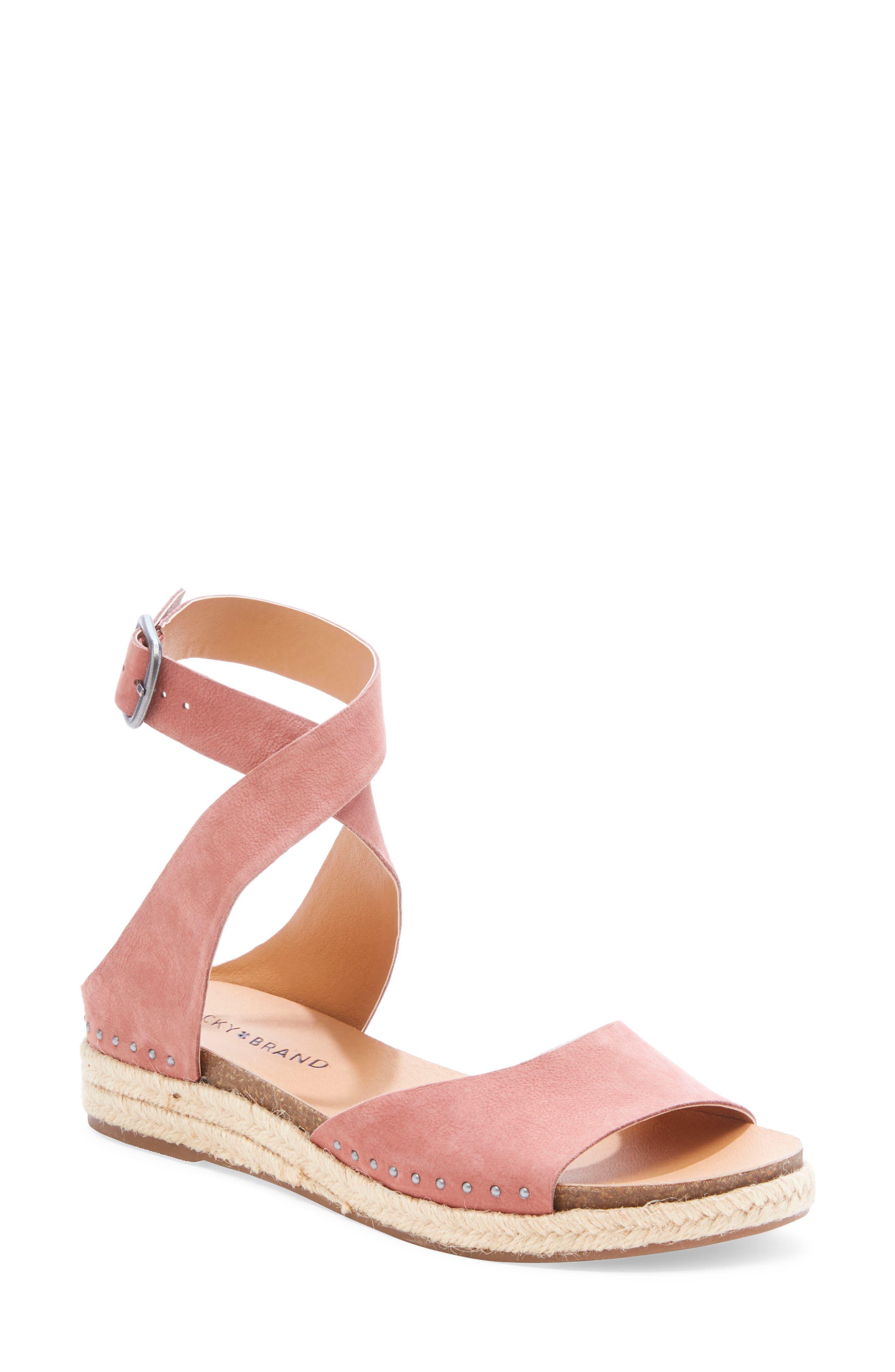 Lucky Brand Gladas Wedge Espadrille Sandal, Pink