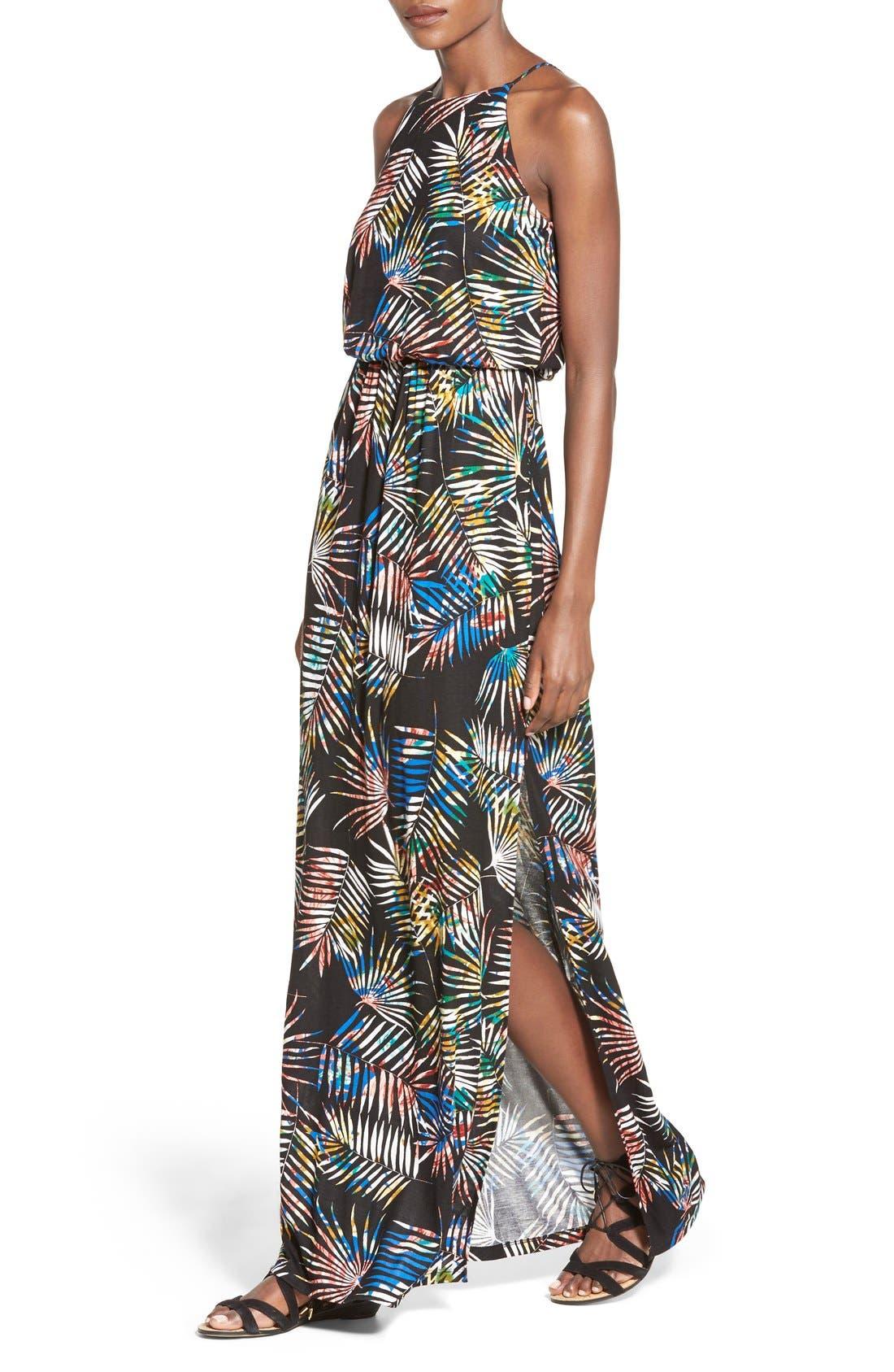 ,                             High Neck Maxi Dress,                             Alternate thumbnail 36, color,                             002